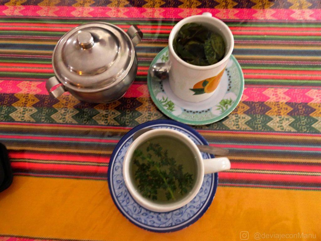 Té de coca y chachacoma