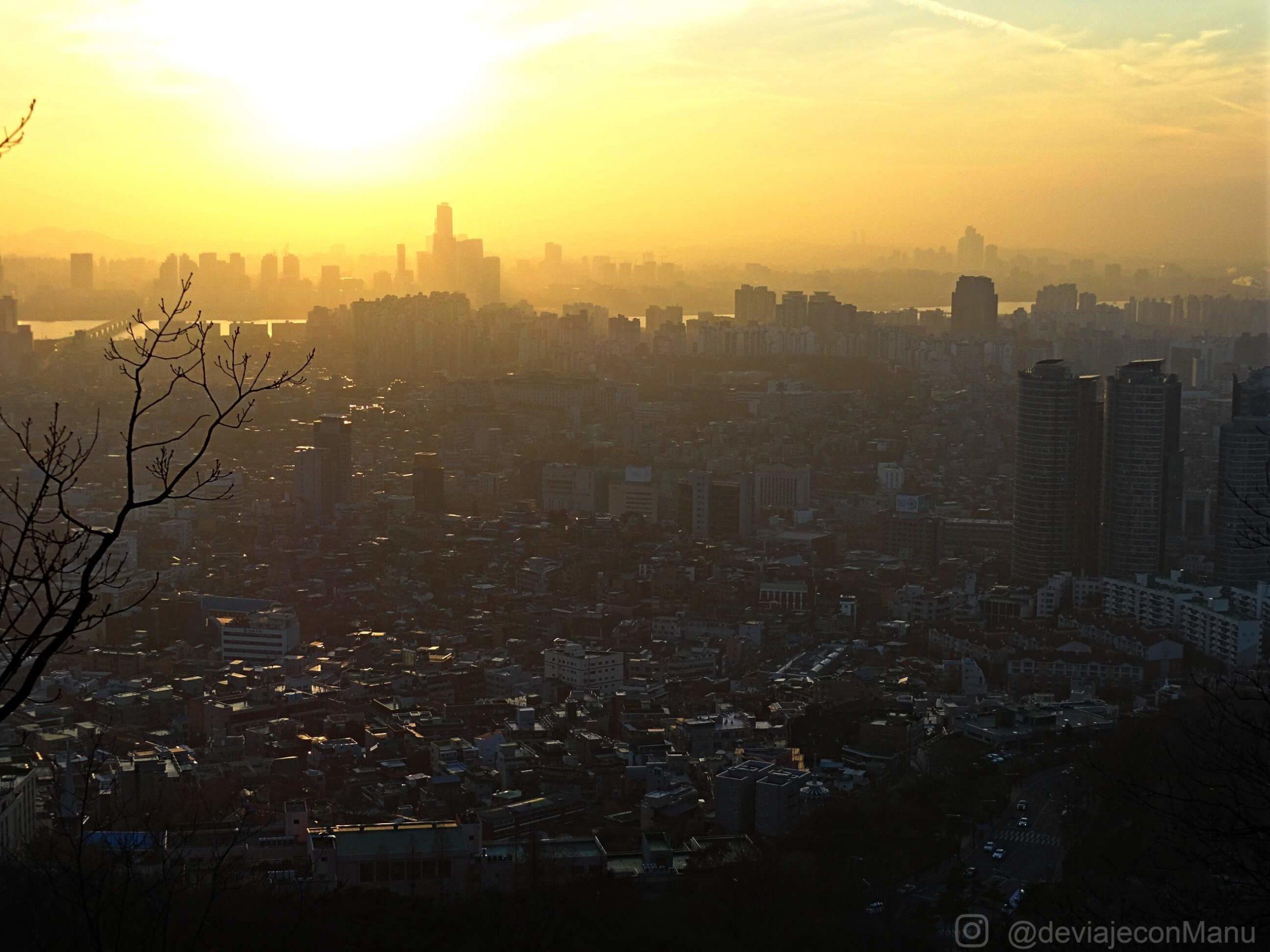 Atardecer en Seúl