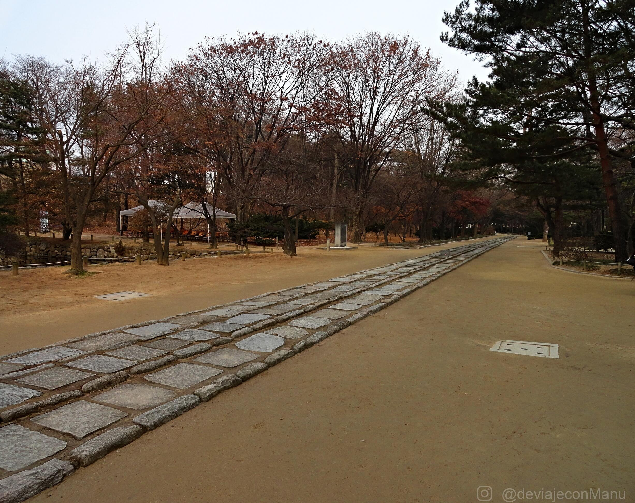 Camino del Jongmyo Shrine