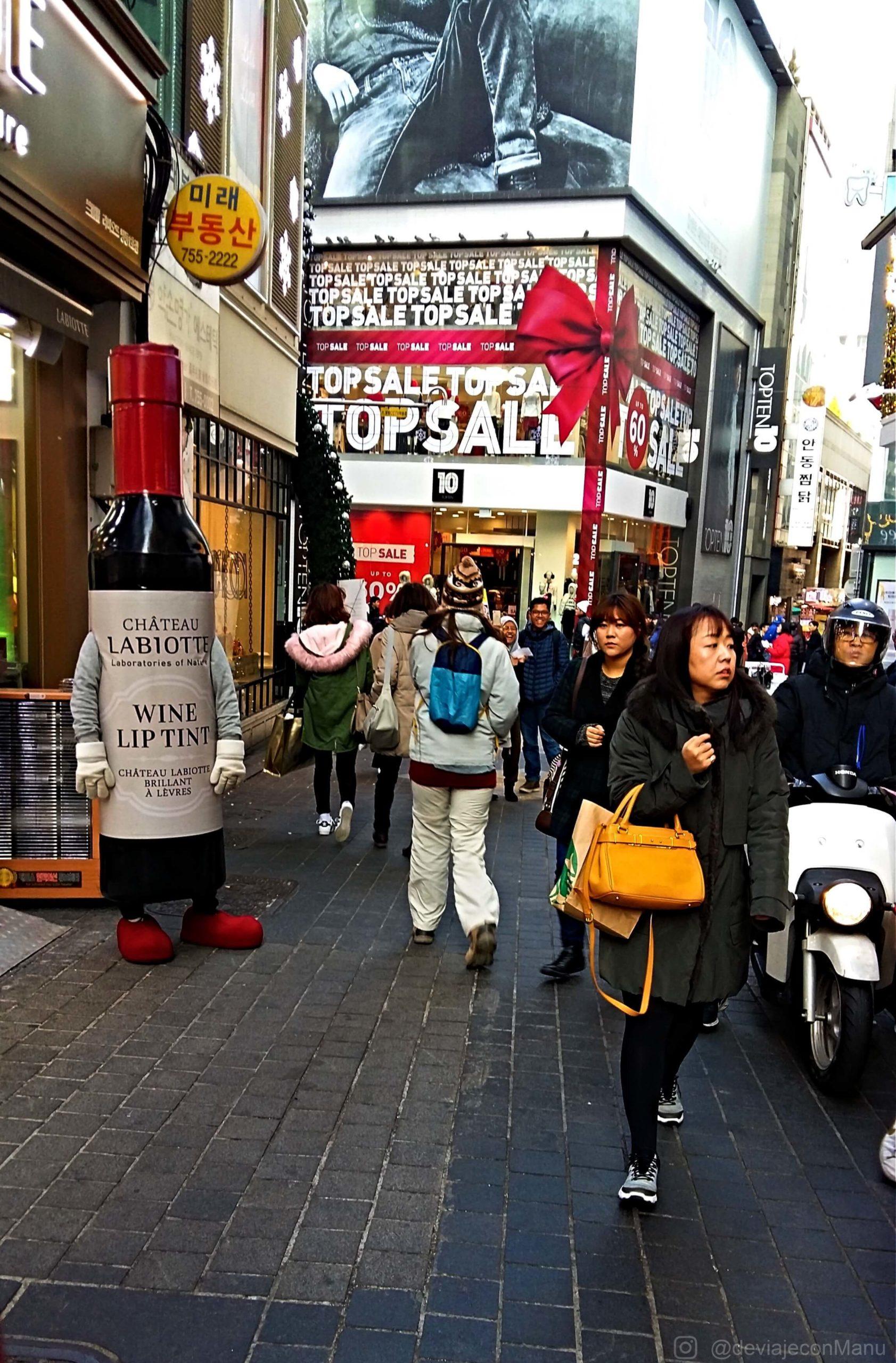 Caminando en Myeongdong