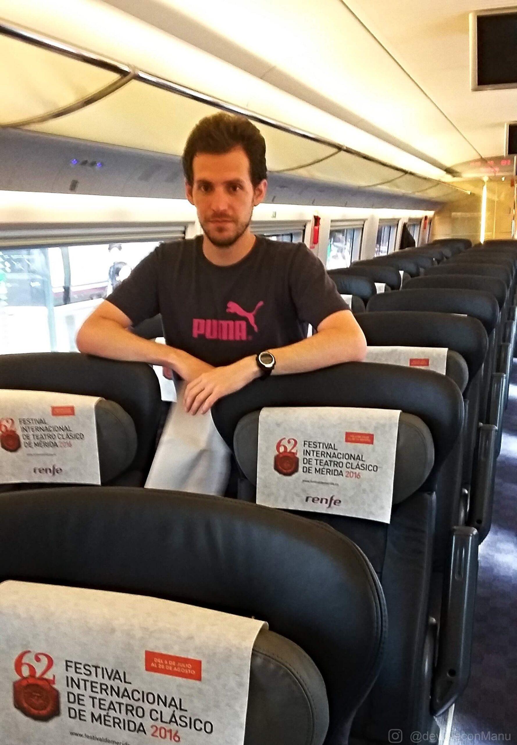 Yo en tren