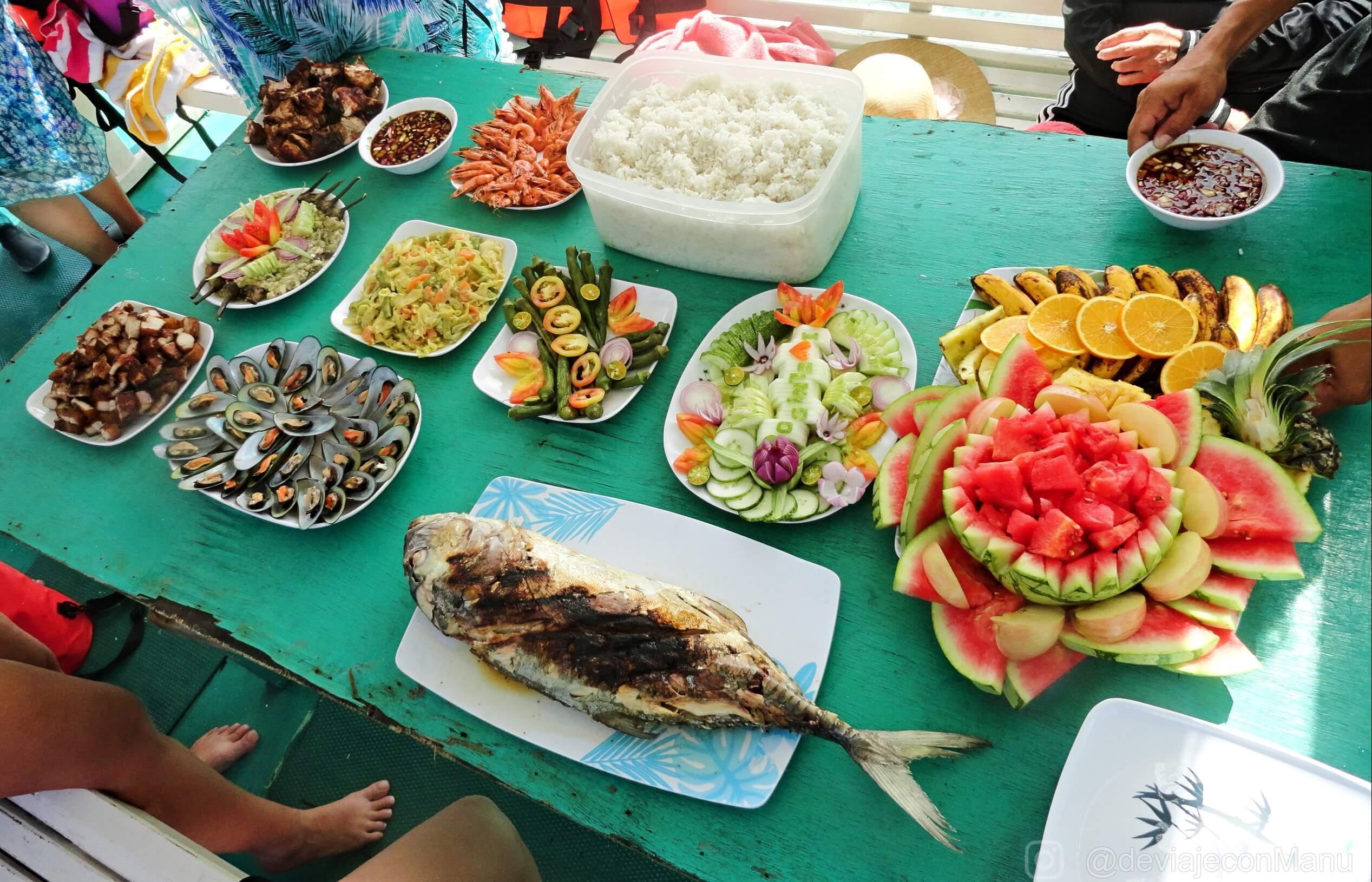 Almuerzo en Snake Island