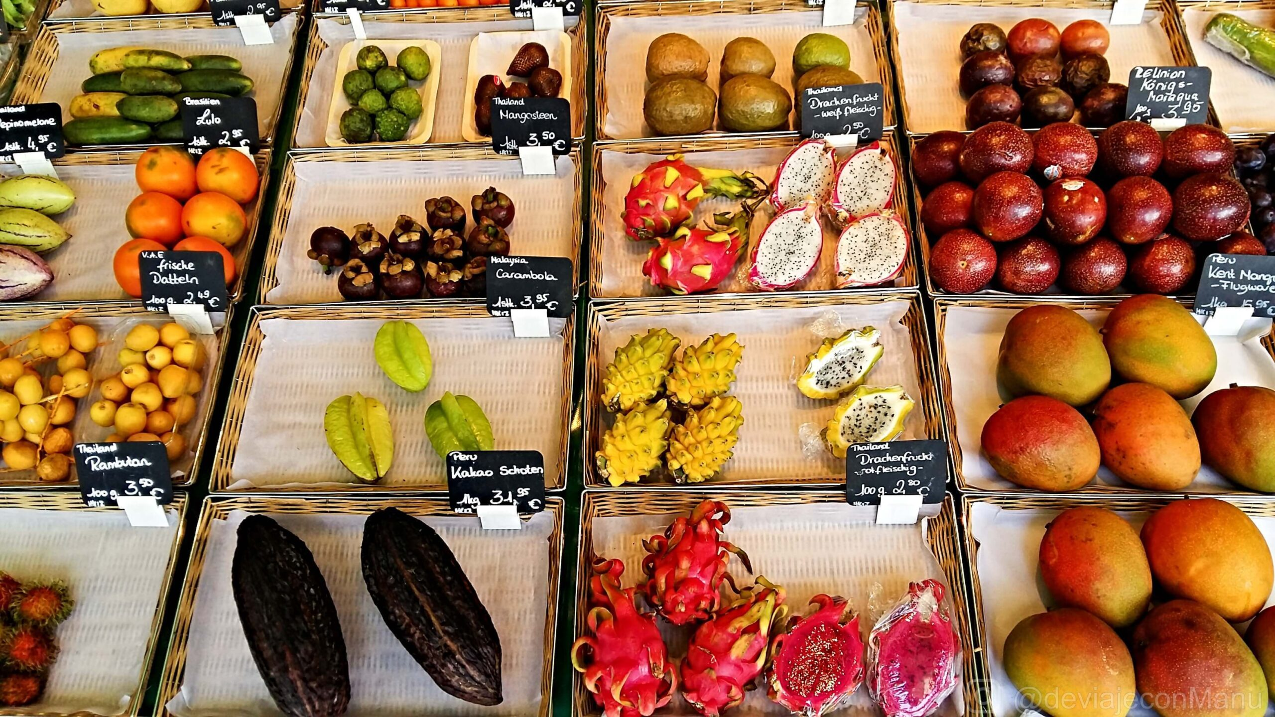 Viktualienmarkt frutas